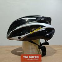 Helm Sepeda ( Lipat / MTB / Roadbike ) BRAIN BLACK WHITE