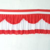 bendera backdrop panggung merah putih