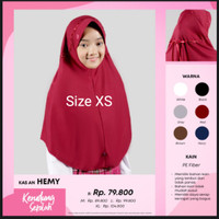 Kerudung Rabbani Hemy XS Jilbab Bergo Hijab Instan Scarf u anak SD 1-3 - Cokelat