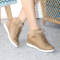 daysa-sepatu boots wedges bsr 07 - Moca, 36