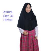 Rabbani Amira Hitam XL Hijab Instan Scarf Jilbab Khimar Daily Kerudung