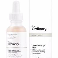 Serum The Ordinary Lactic 5% + HA 30 ml peeling kulit Mati di wajah