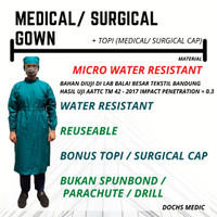 Surgical Gown / APD Surgical Gown / Jubah Operasi / Jubah Medis - Putih