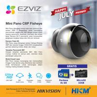 Wireless IP Camera Ezviz C6P Mini Pano 3MP Fisheye 360 Degree Resmi