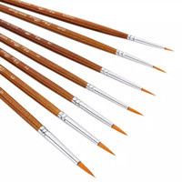 Kuas Lukis Cat Air Minyak Akrilik Set 7 pcs Oil Paint Brush