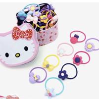 PANACHE 1 set 38 pcs Colorful Hair Rubber Band with Kitty Box Karet