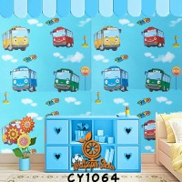 Wallpaper Dinding motif Tayo ukuran 10m x 45cm