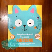Tempel dan warnai sesukamu: Binatang (buku aktivitas & stiker anak)