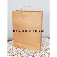 paper bag coklat polos 30x40