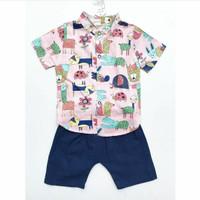 Baju setelan kemeja import pergi pesta fashion anak bayi cowok laki