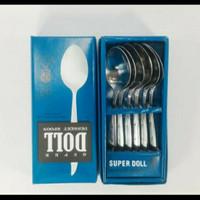 garpu dan sendok makan super DOLL stainless isi 6 pcs