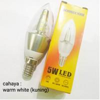 Lampu bohlam led candle jantung 5w E14 kuning/warm white