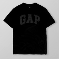 Gap Basic Logo Tshirt Black Original
