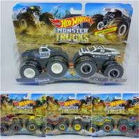 Hot Wheels Monster Trucks Demolition Doubles 2-Pack 1:64 Police Holiga - Hotwheiler V Ho