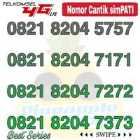 Nomor Cantik Simpati telkomsel 4G LTE seri 0821 8204 ABAB