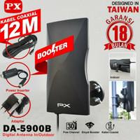 Antena TV Digital Analog PX DA-5900B Kabel 12M Booster Indoor-Outdoor