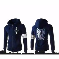 jaket attack on Titan navy/black 4strip