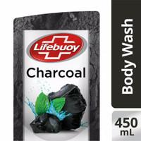 Lifebuoy Body Wash Charcoal Sabun Mandi Cair Refill 450 ml