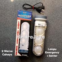 Lampu Led Emergency Senter / Led Emergency 2 Warna Cahaya + Senter