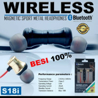 HF/HEADSET BLUETOOTH SPORT S181 MAGNET METAL PACKING IMPORT