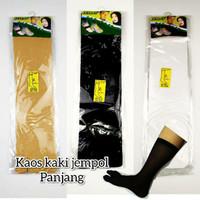 Kaos kaki jempol panjang wanita hitam cream putih syari hijab murah