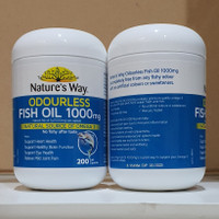 Natures Way Odourless Fish Oil 1000 Mg Omega 3 200 Caps Import Aussie