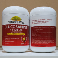 Natures Way Glucosamine + Fish Oil 500 Mg 200 Caps Import Aussie