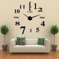 Jam Dinding Minimali Eropa Besar Raksasa DIY 80-130cm Diameter English