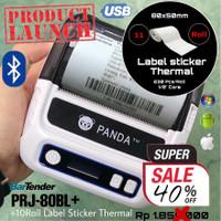 LABEL PRINTER PANDA PRJ-80BL BLUETOOTH +STICKER THERMAL u/ TOKOPEDIA