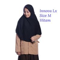 Kerudung Sekolah Innova Lx Hitam M Rabbani Hijab Jilbab Scarf Khimar