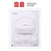 MINISO Headset Earphone Headphone Dilipat Portable Simple Lucu