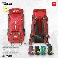 Tas Keril Carrier Rei Toba 60L Original Free Raincover