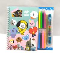 scratch note magic coloring book BTS/BT21