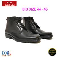 Sepatu pdh ukuran besar bahan kulit asli