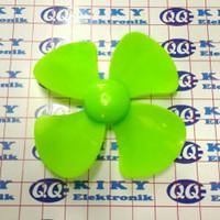 baling baling 8cm hijau / toy fan blade 80mm green / propeller 80 mm