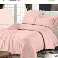 sprei polos 180x200 T30 hotel salem peach embos king size