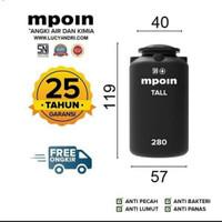 Tangki Air / Tandon / Toren MPOIN PLUS TALL 300 Liter