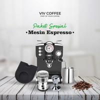Paket Mesin Kopi Espresso Grinder Lengkap Murah