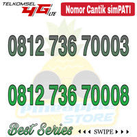 Nomor Cantik Simpati telkomsel 4G LTE seri 7000x