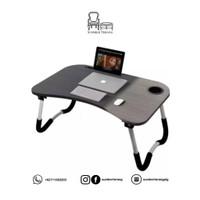 Meja Lipat Laptop Portable / Meja Belajar Anak Holder Tab dan Gelas