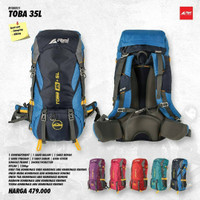 Tas Semi Keril Carrier Rei Toba 35+5L Original Free Raincover