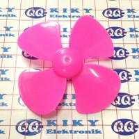 baling baling 8cm merah muda / toy fan blade 80mm pink / propeller