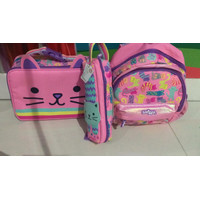 Smiggle Backpack Set Pencil Case Lunch Box Tas Anak TK Original Asli