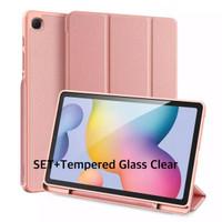 Samsung Tab S6 Lite Smartcase FULLSET+ Glass Clear Original-Pink