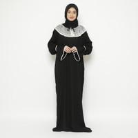 Mukena Abaya Renda Rayon Premium Hitam