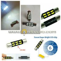 LED Sunvisor Sun Visor Monitor TV Festoon 28 mm 6 Titik 4014 Bright