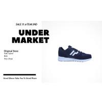sepatu sneakers pria piero jogger hooligan navy