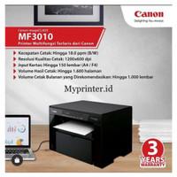 MURAH !!! Printer Laser Canon hitam putih MF 3010 print scan copy A4