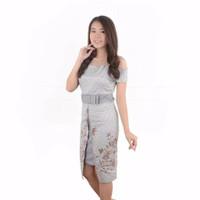 Emily CM Sabrina Ribbon Span // Dress batik // lussin kaftan