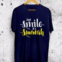 Baju kaos distro dakwah islami 'Just Smile its Sunnah'